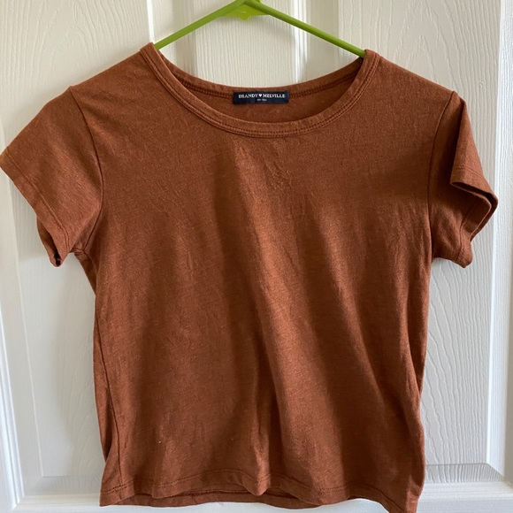 BRANDY MELVILLE caramel colored top
